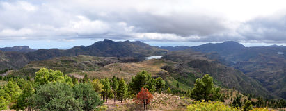 Panorama of Gran Canaria Mountains Stock Photo