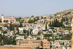 Panorama of Granada from the Alhambra Royalty Free Stock Photos