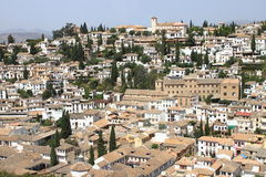 Panorama of Granada from the Alhambra Royalty Free Stock Images