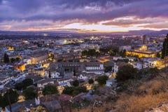 Panorama of Granada Stock Photo