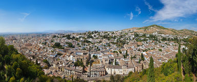 Panorama of Granada Spain Stock Photos