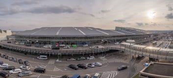Panorama grand-angulaire d'aéroport de Stuttgart, Allemagne Photo libre de droits