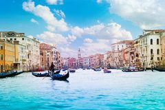 Panorama of grand canal Stock Photo