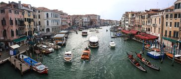 Panorama Grand Canal s Venedig Stockfotos