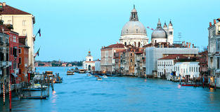 Panorama of Grand Canal Venice Royalty Free Stock Photography