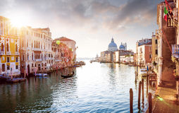 Panorama of Grand Canal in Venice, Italy. Panorama of Grand Canal in Venice - Italy Royalty Free Stock Images
