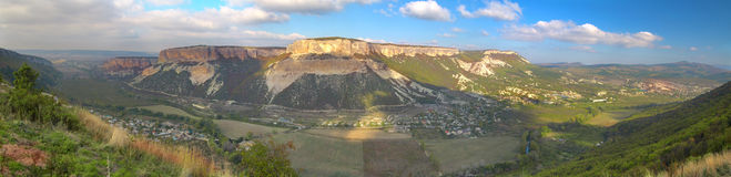 Panorama of Grand Canyon in Crimean Mountains Royalty Free Stock Photography