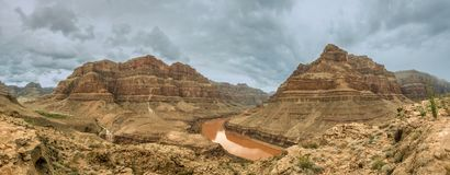 Panorama Grand Canyon du Colorado Image stock