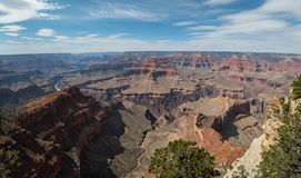 Panorama, Grand Canyon no Arizona Fotos de Stock Royalty Free