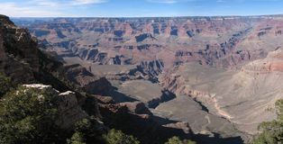 A Panorama of the Grand Canyon, South Rim Stock Photos
