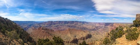 Panorama of the Grand canyon in the USA. stock photography