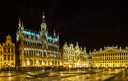 Panorama of the Grand Place in Brussels Stock Image