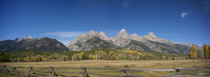 Panorama - Grand Teton Royalty Free Stock Photo