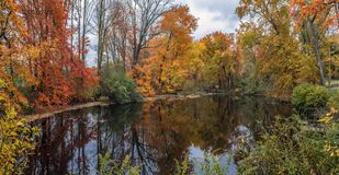 Panorama grande da lagoa do ribeiro imagens de stock royalty free