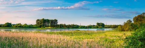Panorama grande da reserva natural das águas Foto de Stock