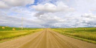 Panorama grande de la carretera nacional del cielo Imágenes de archivo libres de regalías