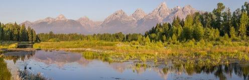 Panorama grande de Teton fotografia de stock royalty free