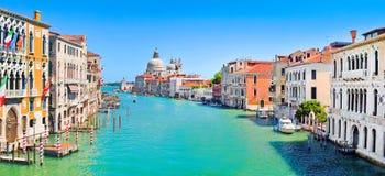 Panorama grande del canale a Venezia, Italia Immagine Stock Libera da Diritti
