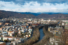 Panorama of Graz Stock Photography