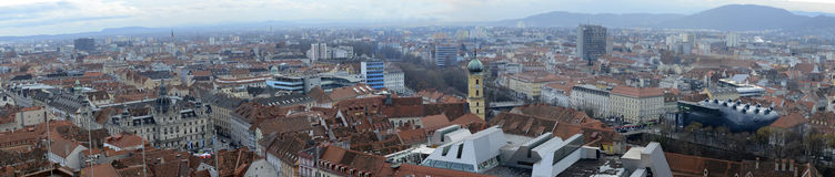 Panorama of Graz Royalty Free Stock Photography