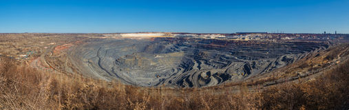 Panorama of a great career iron ore mining Stock Images