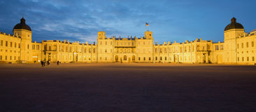 Panorama of the Great Gatchina Palace in the May twilight. Gatchina, Russia. Panorama of the Great Gatchina Palace in the May twilight. Gatchina. Russia Royalty Free Stock Photos