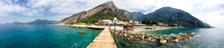 Panorama of a great holiday resort Royalty Free Stock Images