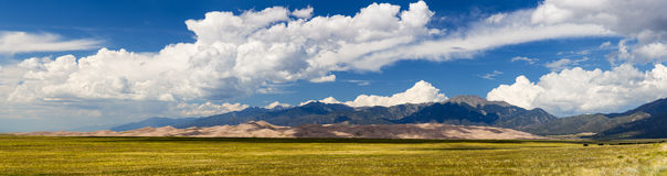 Panorama of Great Sand Dunes NP Royalty Free Stock Photos