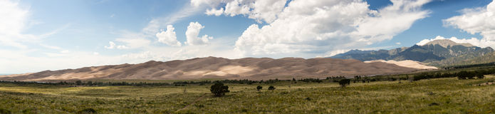 Panorama of Great Sand Dunes NP Royalty Free Stock Image