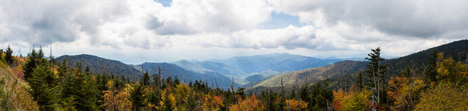 Panorama of Great Smoky Mountains Stock Photo