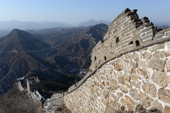 Panorama of great wall in china Royalty Free Stock Photo
