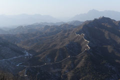 Panorama of great wall in china Stock Photography