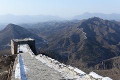 Panorama of great wall of china Stock Photos