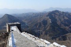 Panorama of great wall of china Stock Photos
