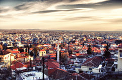 Panorama of the city. Panorama of the greek city Xanthi Royalty Free Stock Images