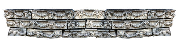 Panorama of Greek masks Royalty Free Stock Photography