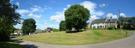 Panorama of the green at Abbotsley Stock Photos