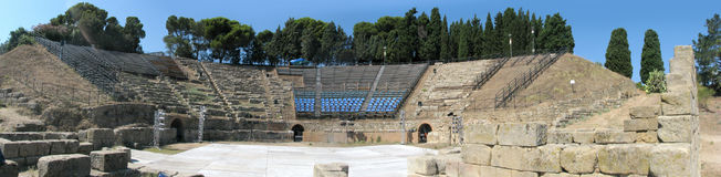 Panorama grego do teatro de Tindari's - Messina - Sicília - Itália Fotografia de Stock Royalty Free