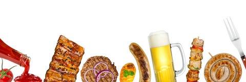 panorama grelhado do alimento imagens de stock