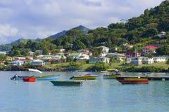 Panorama of Grenada, Caribbean Royalty Free Stock Images