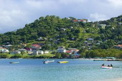 Panorama Grenada, Karaiby Zdjęcia Royalty Free