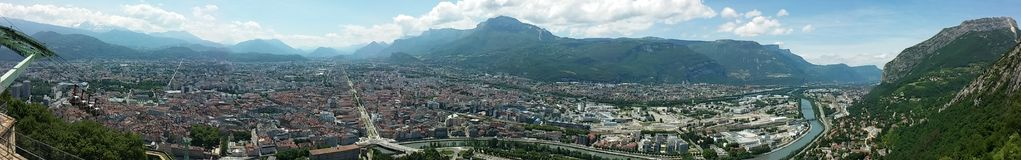 Panorama of Grenoble Stock Photo