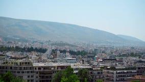 Panorama griego de Atenas de la capital almacen de video