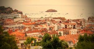 Panorama grodzki Tossa De Mar, Hiszpania Zdjęcie Royalty Free