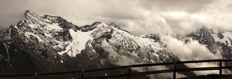 Panorama of Grossglockner Royalty Free Stock Image