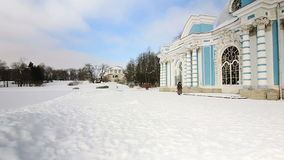 Panorama of Grotto Pavilion in Pushkin city stock footage