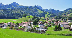 Panorama of Gruyere Royalty Free Stock Images