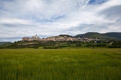 Panorama Gubbio italy Royaltyfria Foton