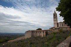 Panorama Gubbio italy Royaltyfri Bild