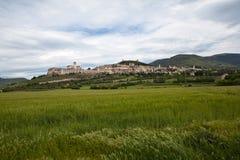 Panorama Gubbio italy Arkivbilder